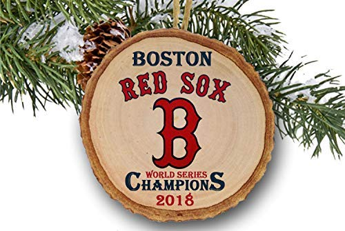 (Boston Red Sox World Series Champions 2018 Ornament, Boston Red Sox, Baseball, Wood Slice Ornament 3