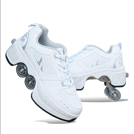 Q&N Creative Roller Skates Sneakers 2 in 1 Shoes Scarpe con