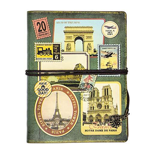 XRROOK Cuaderno de Espiral Para Escribir en Cuero Diario Viajero la Vendimia Sketchbook Planificador Daily Clásico Niñas Y...