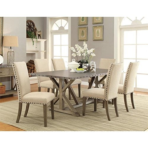 Coaster Home Furnishings Webber 5-Piece Rectangular Table Dining Set Driftwood and Sand