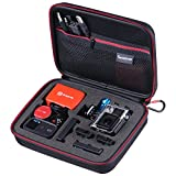 Smatree SmaCase G160 Carrying Case for Gopro Hero 5, 4, 3+, 3, 2, 1( Camera and Accessories NOT included) -Black&Red