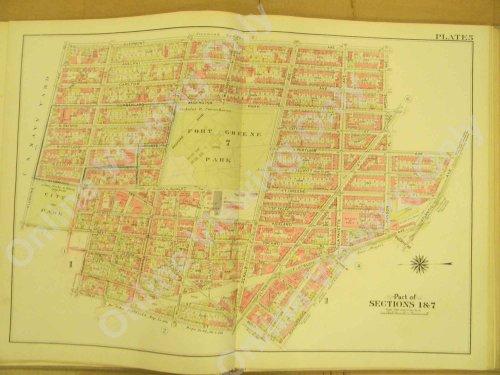 Brooklyn Vintage Map 1908 - 22.5