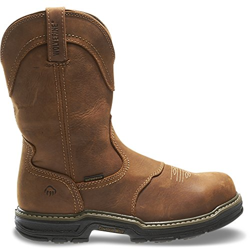 Wolverine Men's Anthem Western Wellington Steel-Toe Work Boot, Brown - 10 D(M) US