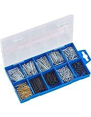 Connex nagelassortiment 485-delig - nagels & kammen set - voorgesorteerd in praktische plastic doos - geschikt voor huis, hobby & werkplaats/assortimentsdoos / DP8500054