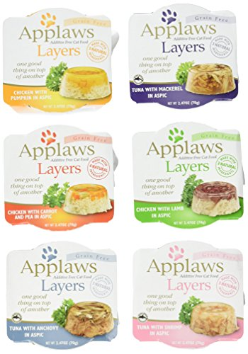 Applaws Grain Free Layers in Aspic Canned Cat Food 6 Flavor