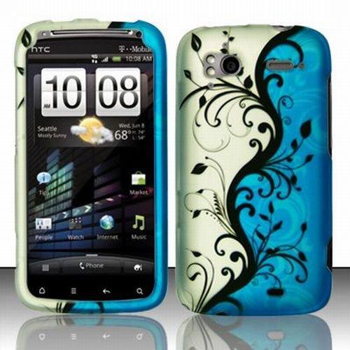 amazon com tmobile htc sensation 4g accessory blue silver black