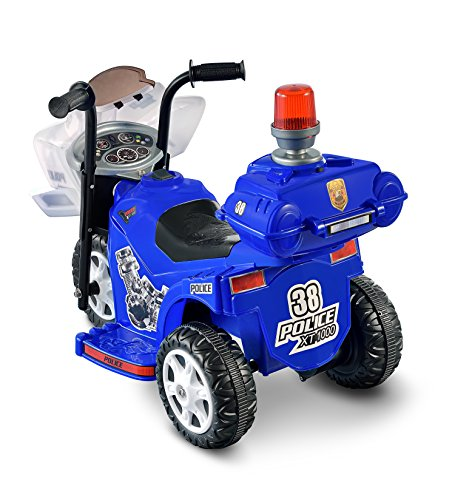 Lil patrol 6v blue and white best deals toys for Toys r us motorized cars