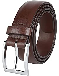 "Savile Row Men's Dress Belt 35MM 1.5"" wide Black Brown & Reversible"