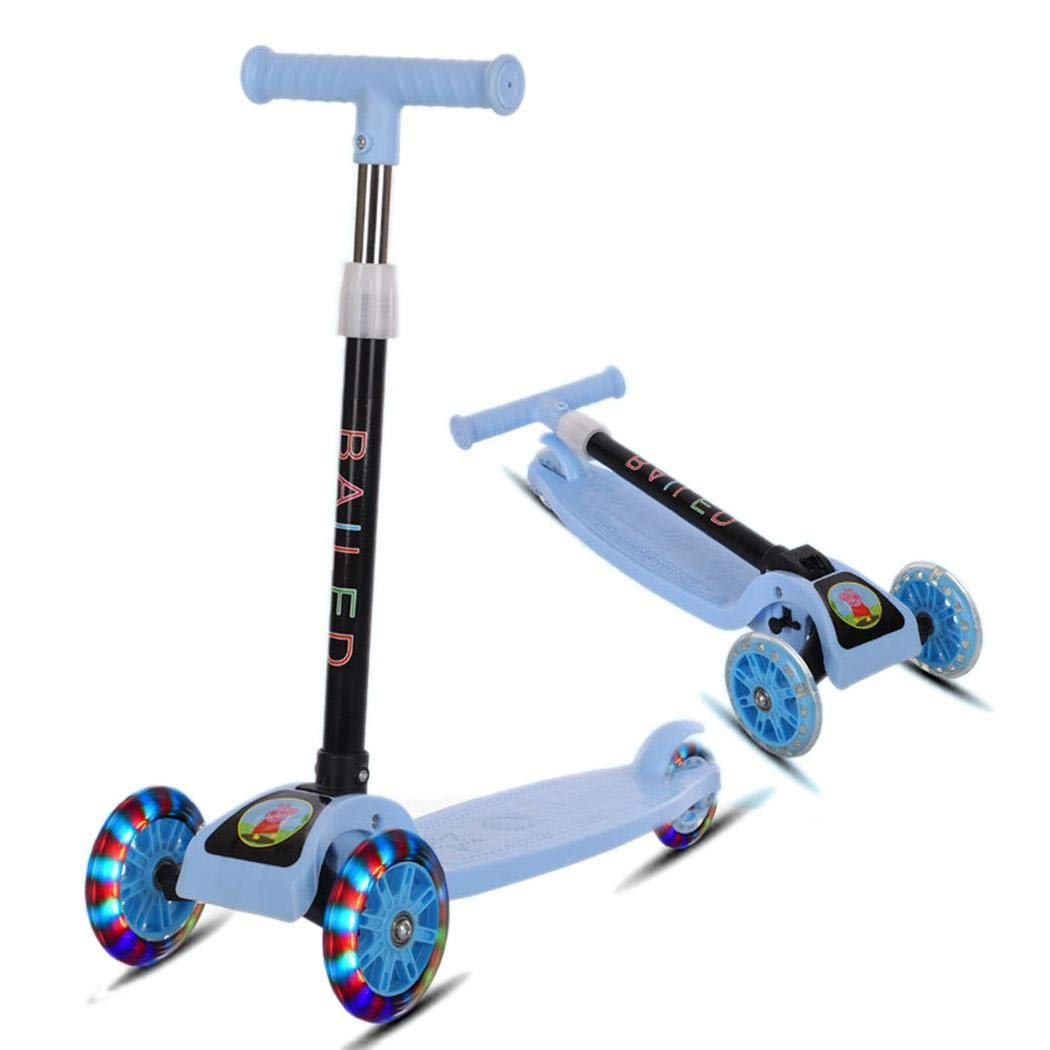 Oguine Durable Portable Folding with Flash Light Sliding Children Scooter Kick Scooters