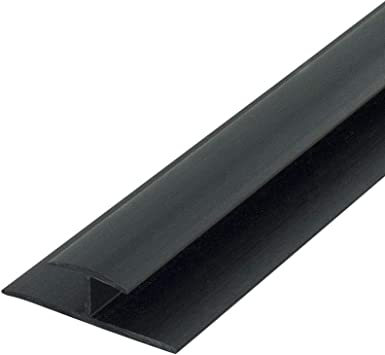Outwater Plastic H Channel Fits Material 1 4 Inch Thick Black Styrene Divider Moulding 46 Inch Length Pack Of 2 Amazon Com