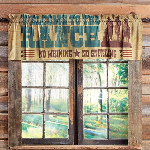 BLACK FOREST DECOR Cowboy Lifestyle Valance