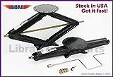 Set of 2 5000 lb 30'' RV Trailer Stabilizer Leveling Scissor Jacks w/handle and socket - 26021