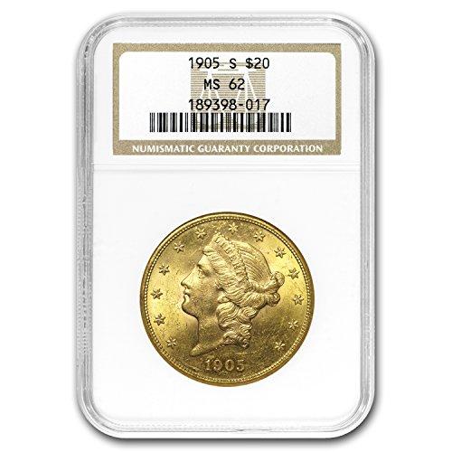 1905 S $20 Liberty Gold Double Eagle MS-62 NGC G$20 MS-62 NGC