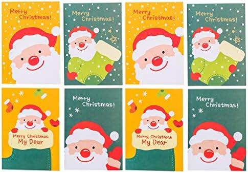 TOYANDONA Weihnachten Notebook Urlaub Journal Planer Notizblock Santa Rentier Schneemann Tasche Notebook (zufälliger Stil)