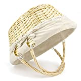 """Durior Wicker Basket Woven Picnic Basket Empty Oval Willow Large Storage Basket with Double Handles Fruit Serving Baskets Easter Basket 15.5"""" L 11.5"""" W"""