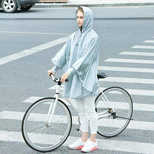 Aire Estilo Al Adulto Capucha Con Bobolily Libre Moda Espesante Rayas Impresión 3 Poncho Impermeable Especial qwIv1pUS