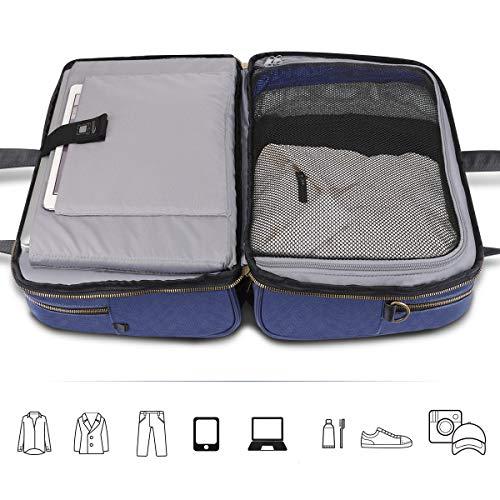Keenstone Laptop Bag, Waterproof Travel Bag with USB Duffle Bag Commuter Fashion School Bag PC Compatible (Blue)