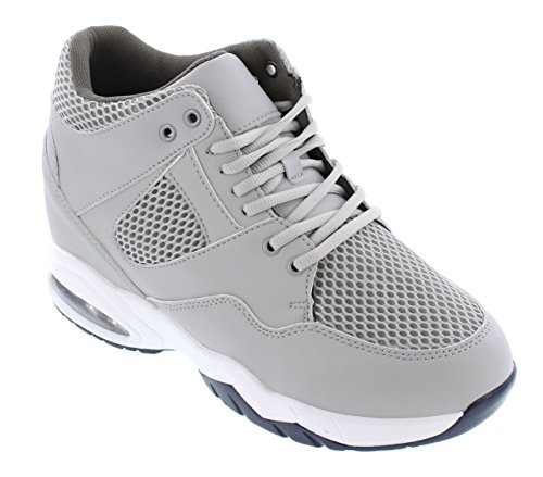 CALTO H329084-4 inches Taller - Height Increasing Elevator Shoes - Cement Fashion Sneakers clearance geniue stockist discount footlocker finishline quality from china wholesale shopping online with mastercard JzAVv