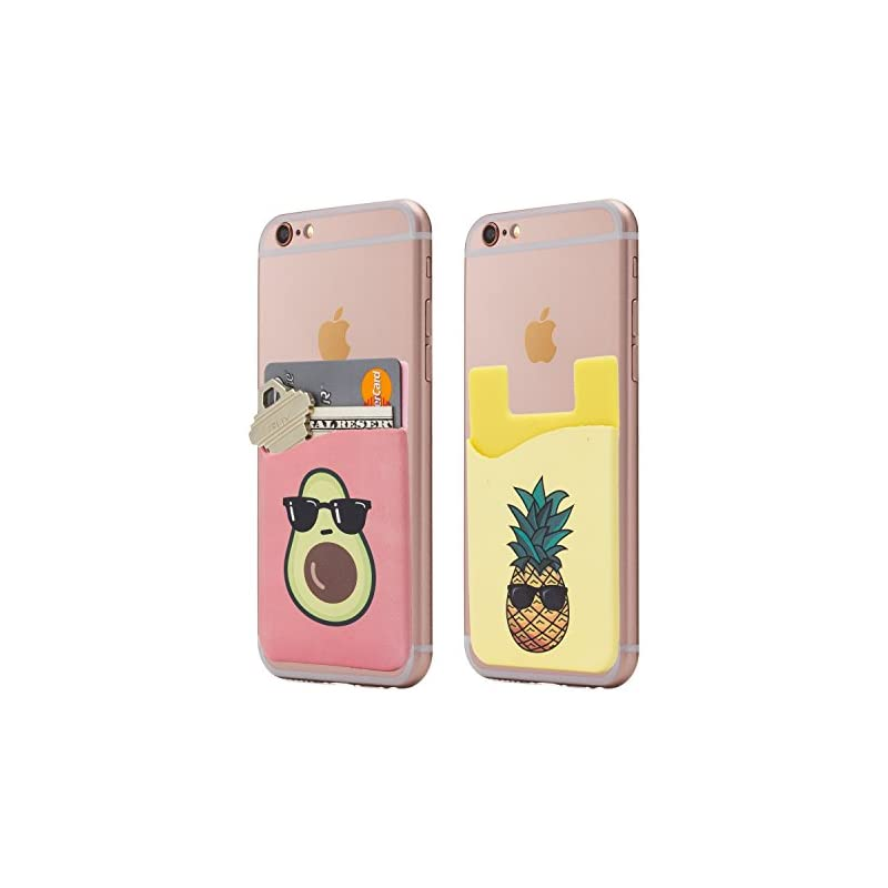 (Two) Avocado and Pineapple Cell Phone S