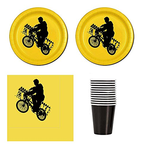 (Razzle Dazzle Celebrations 02 Freestyle Bike party supplies for 12 guests, cake plates, napkins,)