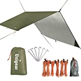 Unigear Hammock Rain Fly Waterproof Tent Tarp Shelter and Camping Sunshade (Green, 118×118inch)