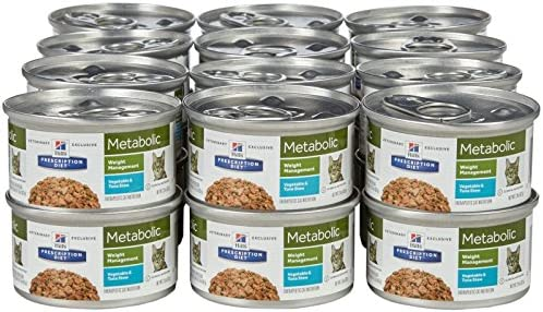 Hill's Prescription Diet Metabolic Feline Weight Management - Vegetable and Tuna Stew - 24X2.9 Ounces