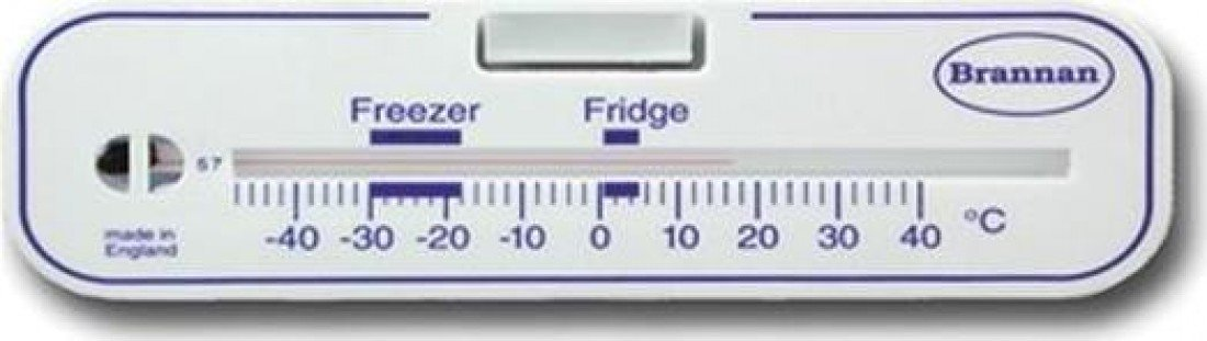 Brannan Horizontal Fridge/Freezer Thermometer S Brannan and Sons Ltd 22/483/2