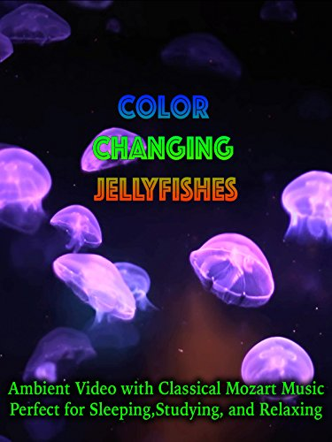 Color Changing Jellyfishes Ambient Video with Classical Mozart Music Perfect for Sleeping, Studying, and Relaxing (Jellyfish Video)