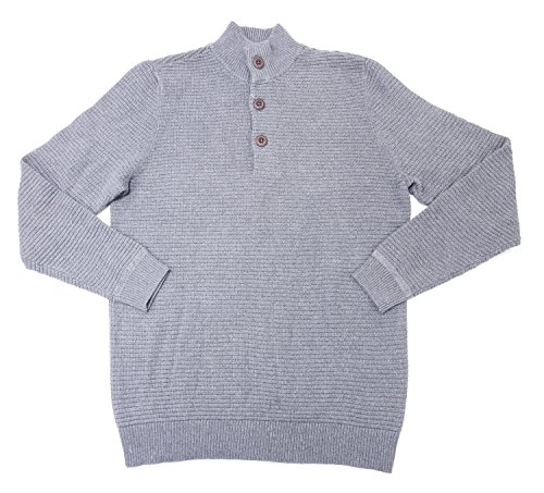 G.H. Bass & Co. Mens Heavy Henley Sweater, Griffin Heather (X-Large, Griffin - Store Bass Outlet