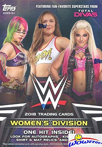 (2018 Topps WWE Women's Division EXCLUSIVE Factory Sealed Retail Box with HIT of either Autograph, Kiss Card, Relic & More! Look for Autographs,Kiss Cards & Relics of Top WWE Female Superstars! WOWZZER)