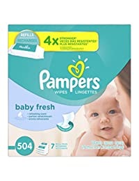 Pampers Baby Wipes Baby Fresh 7X Refill, 504 Count BOBEBE Online Baby Store From New York to Miami and Los Angeles