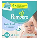 Pampers Baby Wipes Baby Fresh 7 Refills, 504 Count