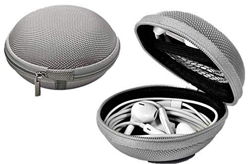 Affordable Bluetooth Headset Carrying Case, Hard-Shell & Padded, Silver Grey Slate, Bose, Motorola