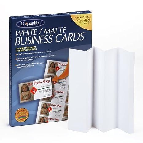 amazon com geographics royal brites business cards geo46102
