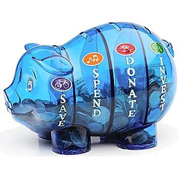 Amazoncom Money Savvy Pig  Blue Home  Kitchen