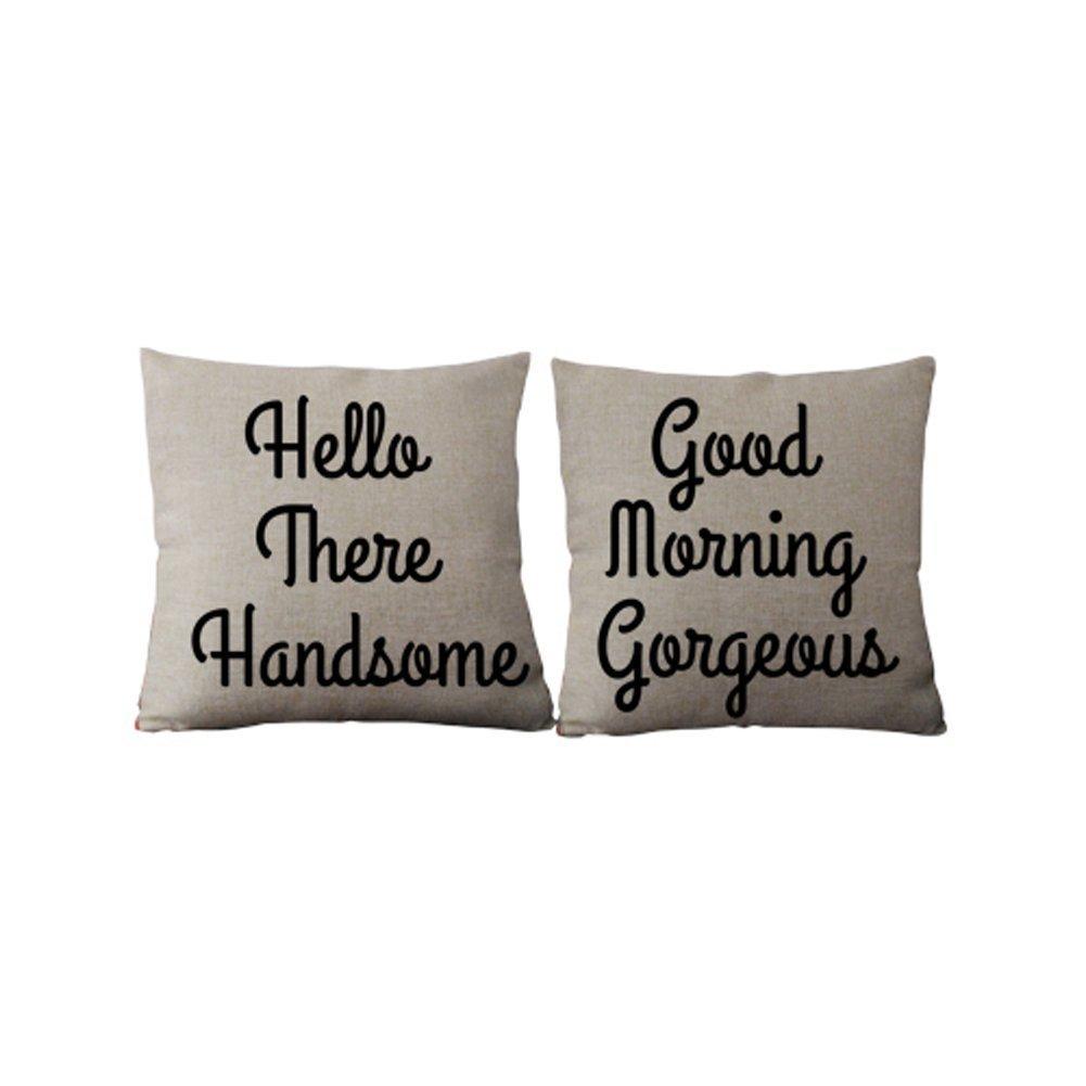 Amazon.com: Generic Custom Señor y Señora almohada (Lino Set ...