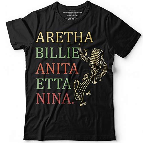 Aretha Billie Anita Etta Nina Queen of Soul Jazz Female Legends Customized Handmade T-Shirt Hoodie/Long Sleeve/Tank Top/Sweatshirt