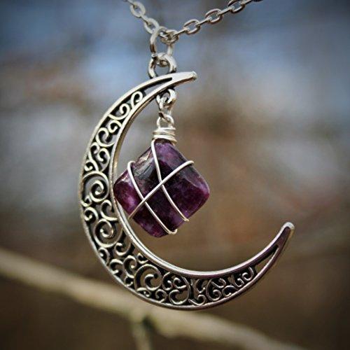 Wire Wrap Stone Pendant Necklace: Amazon.com