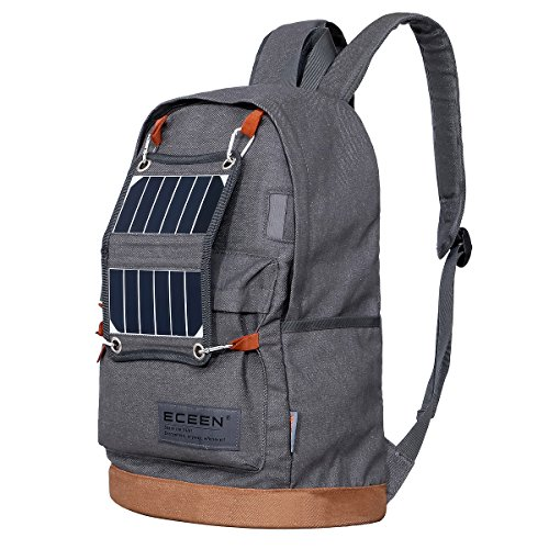 ECEEN Backpack With Solar Charger and LED Camping Light
