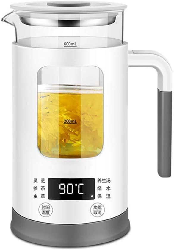 l.e.i. Electric Kettle 0.6L Glass Tea Kettle with Variable Presets,One Touch Tea Maker