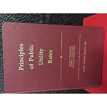 Principles of Public Utility Rates