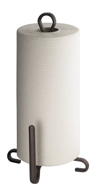 Amazoncom Mdesign Free Standing Paper Towel Holder For Kitchen