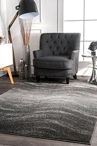 nuLOOM BDSM05A Contemporary Hazy Waves Area Rug, 10' x 14', Grey ()