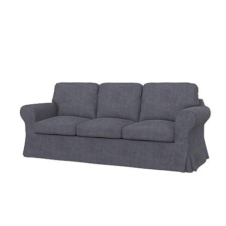 Ikea Divano Letto A 3 Posti.Soferia Fodera Extra Ikea Ektorp Pixbo Divano Letto A 3 Posti Tessuto Softi Grey