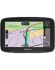 TomTom navigatie VIA 62, 6 inch met handsfree bellen, TomTom Traffic via smartphone en kaarten van Europa, resistief scherm, Zwart