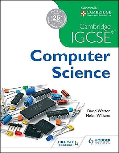 Cambridge IGCSE Computer Science: Amazon co uk: David Watson, Helen