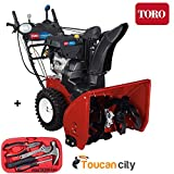 Toro Power Max HD 1028 OHXE 28 in. 2-Stage Gas Snow Blower 38802 and Toucan City Tool Kit 15-Piece