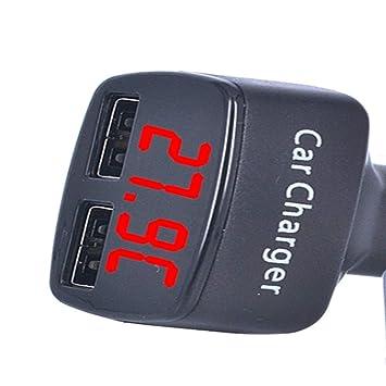 2 USB Cargador de Coche, USB Dual del Coche Cargador de ...