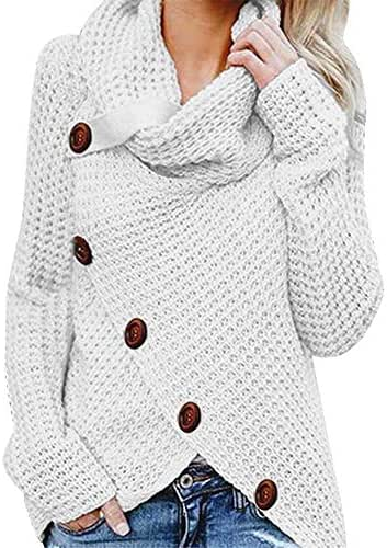NOMUSING Sweatshirt for Women Button Long Sleeve Sweater Pullover Fashion Casual Slouchy Tops Blouse Shirt Outerwear