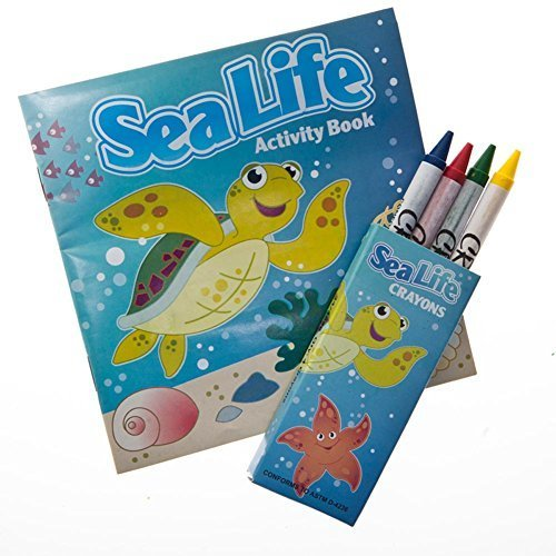 12 ~ Sea Life Tropical Fish Activity Coloring Books with Crayons ~ New ()